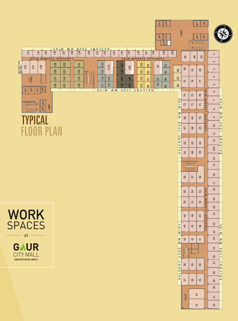 Gaur City Mall Noida Extension Floor Plan